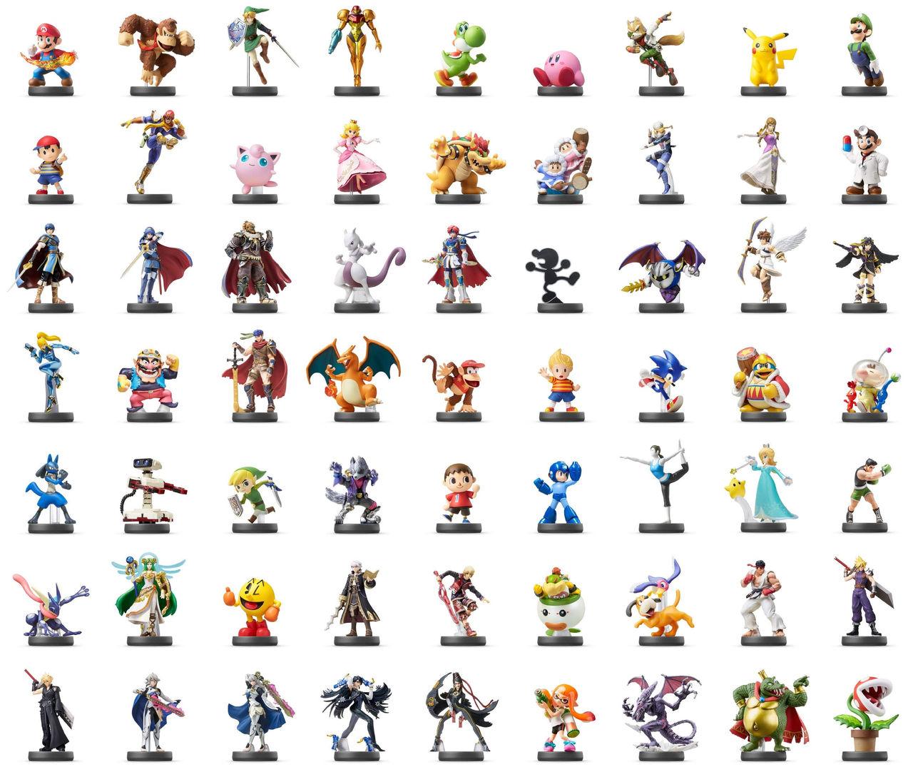 Amiibo-paket med 63 Smash Bros-figurer släpps i Japan