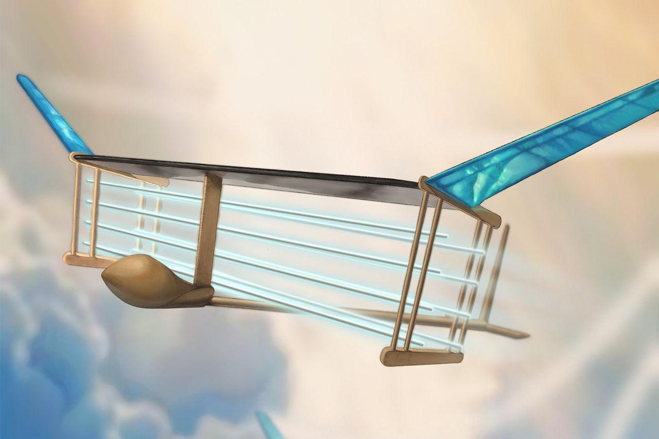 Flygplanet V2 flyger med jondrift