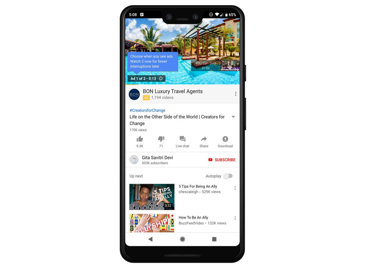 Youtube börjar testa dubbla reklamer innan videor