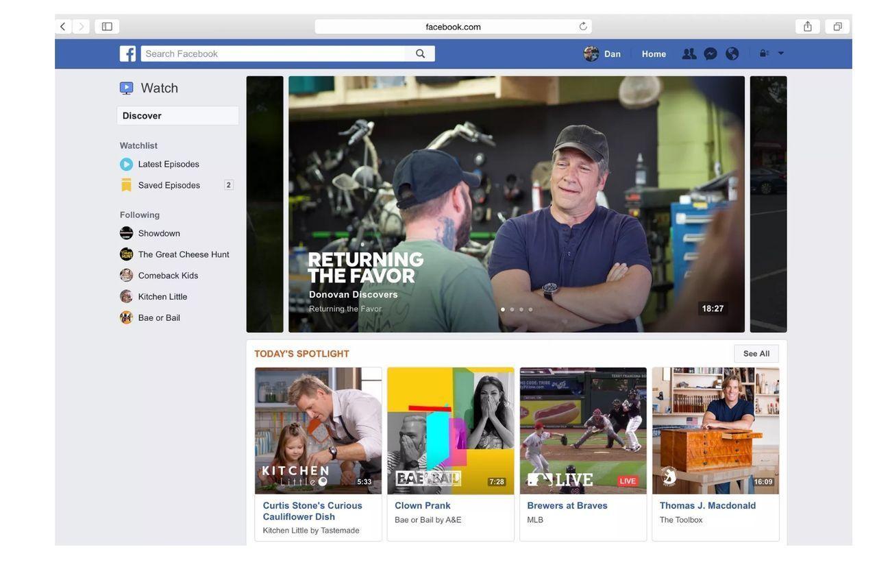 Facebook Watch ryktas vilja komma åt en äldre målgrupp