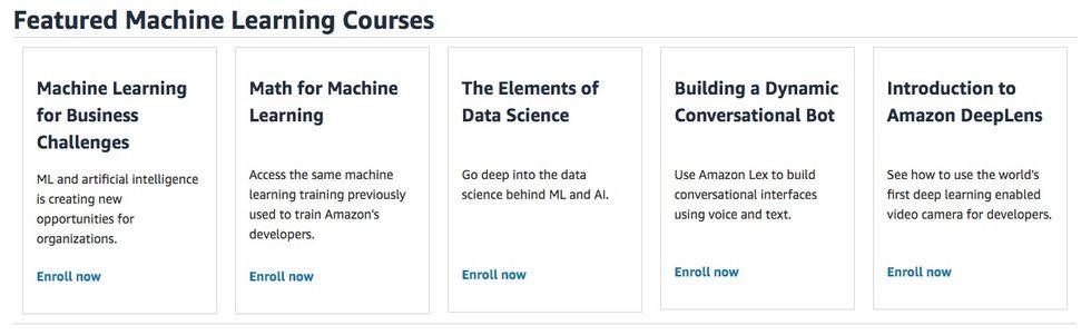 Amazon bjuder på maskininlärnings-utbildningar