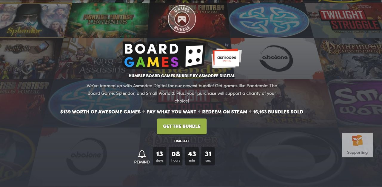 Fynda digitala brädspel i ny Humble Bundle