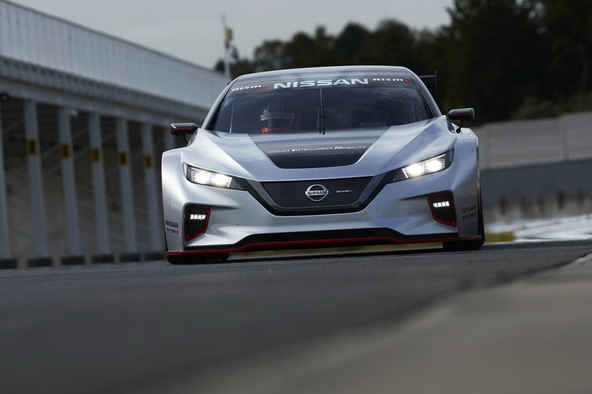 Nya Nissan Leaf som racerbil