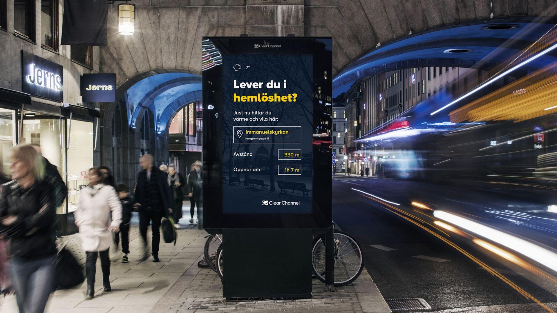 Annonstavlor ska hjälpa hemlösa i Stockholm