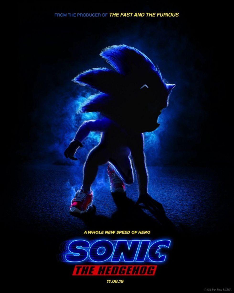 Här är affischen till Sonic The Hedgehog
