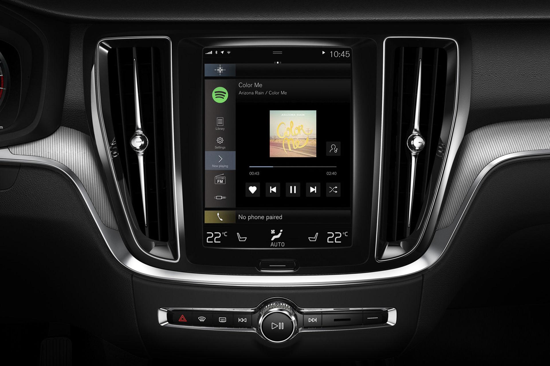 Ny design på Spotify i Volvos bilar
