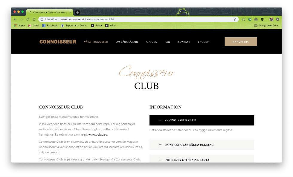 Connoisseur Club hackade