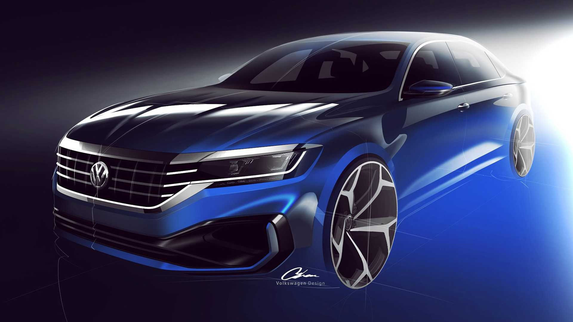 Skisser på nya Volkswagen Passat
