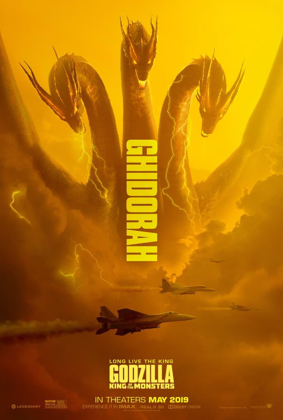 Kolla in Godzillas fiender på tre nya affischer