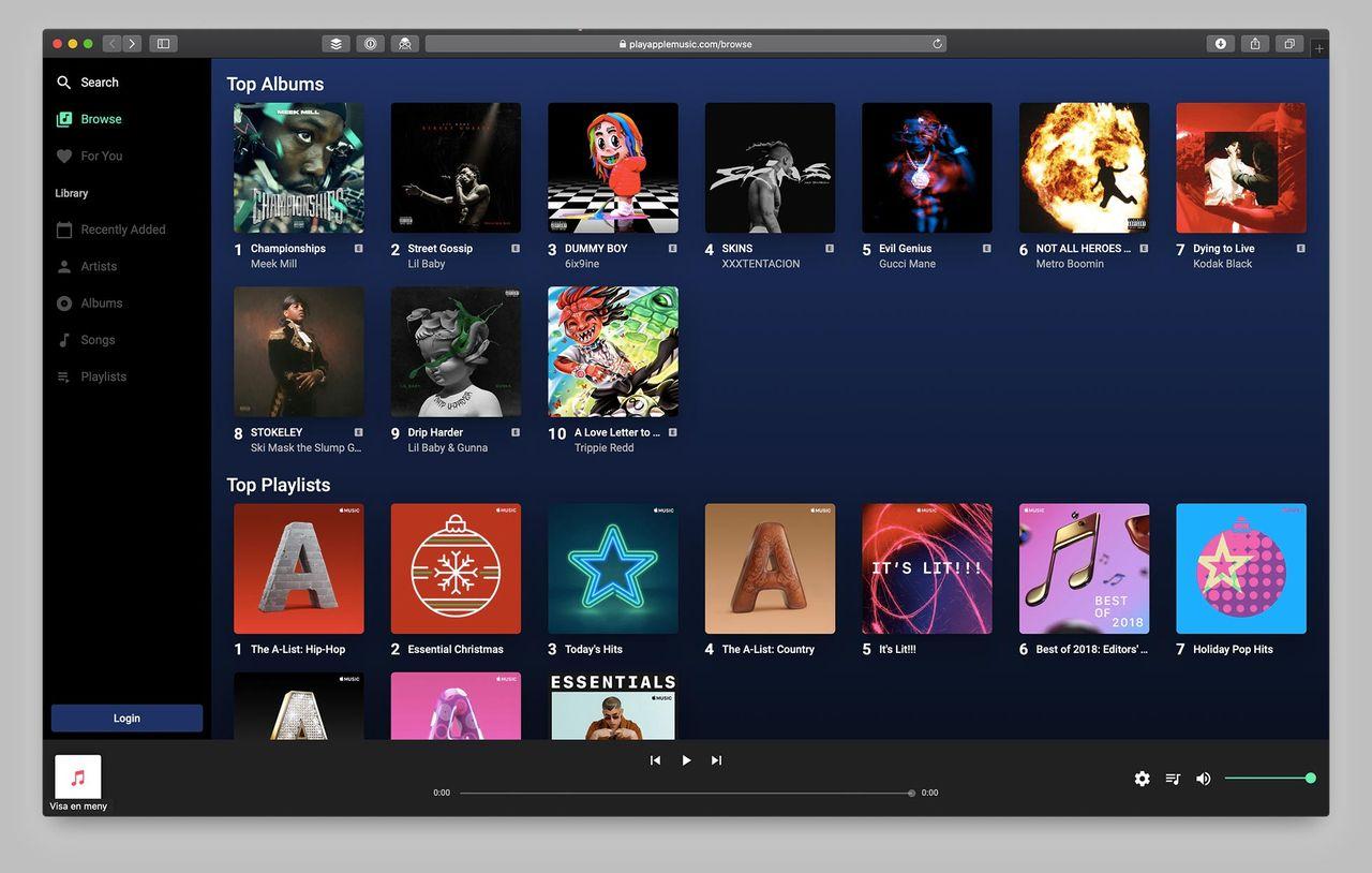 Nu kan du köra Apple Music i webbläsaren