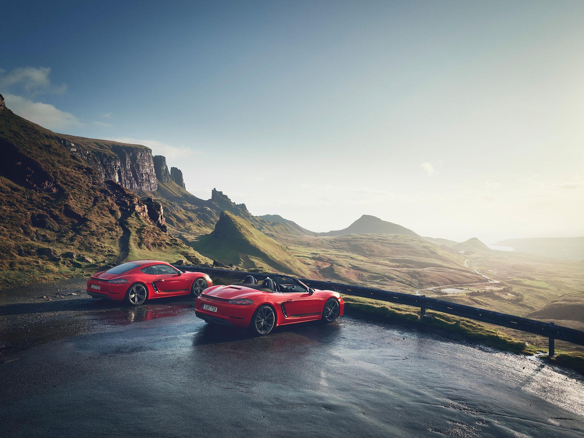 Porsche rullar ut Boxster- och Cayman 718 T