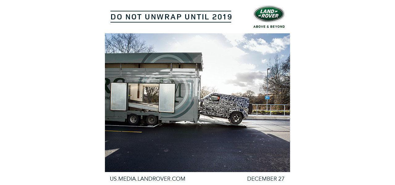 Land Rover visar inslagen version av nya Defender