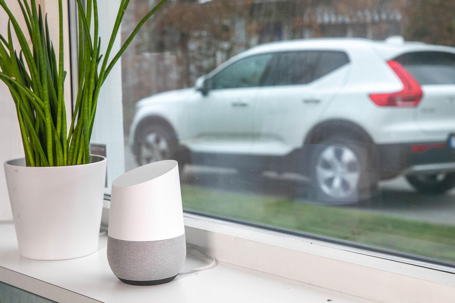 Prata svenska med din Volvo via Google Home