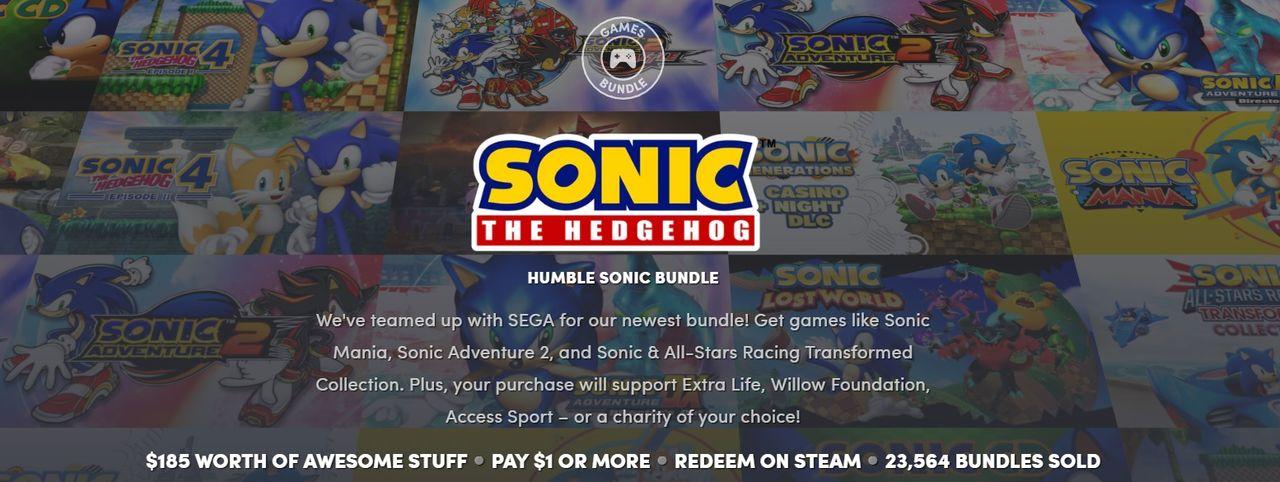 Fynda Sonic-spel i ny Humble Bundle