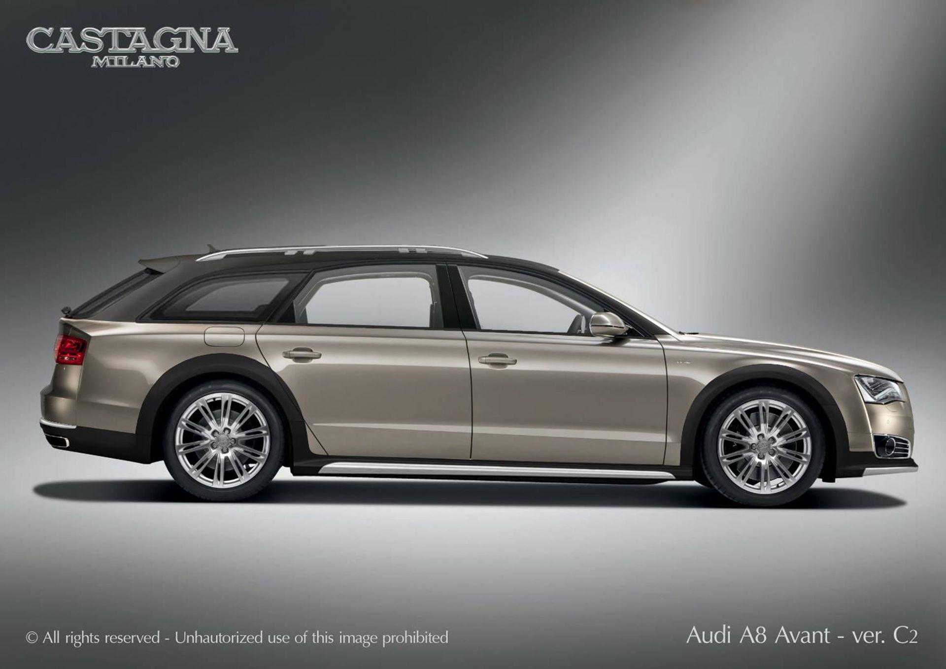 Audi A8 Avant Allroad med W12