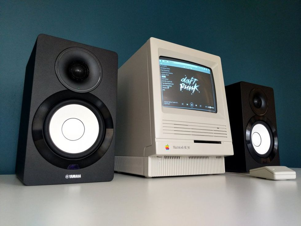 Snubbe bygger Spotify-spelare till sin Macintosh SE/30
