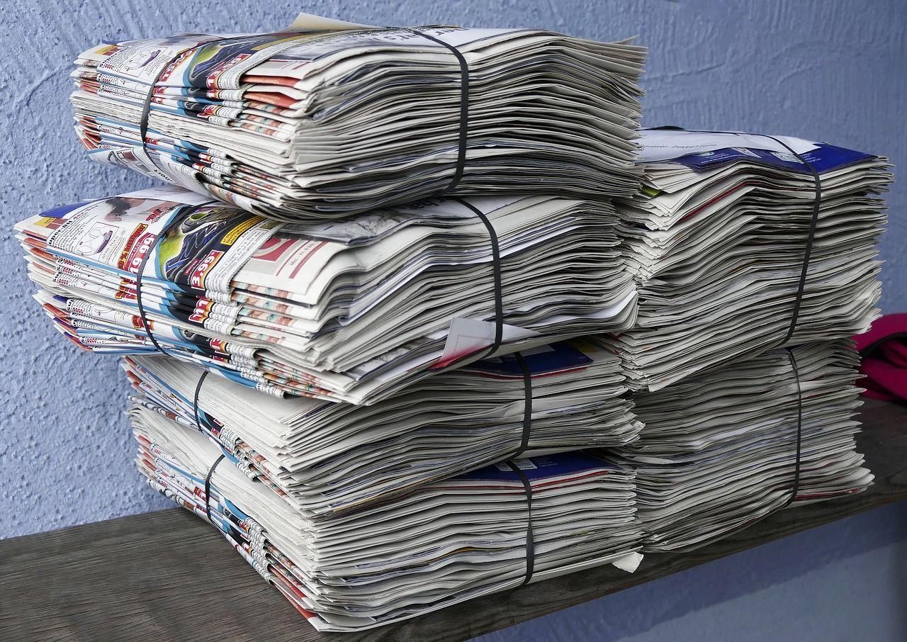 Vi återvinner allt mindre tidningspapper