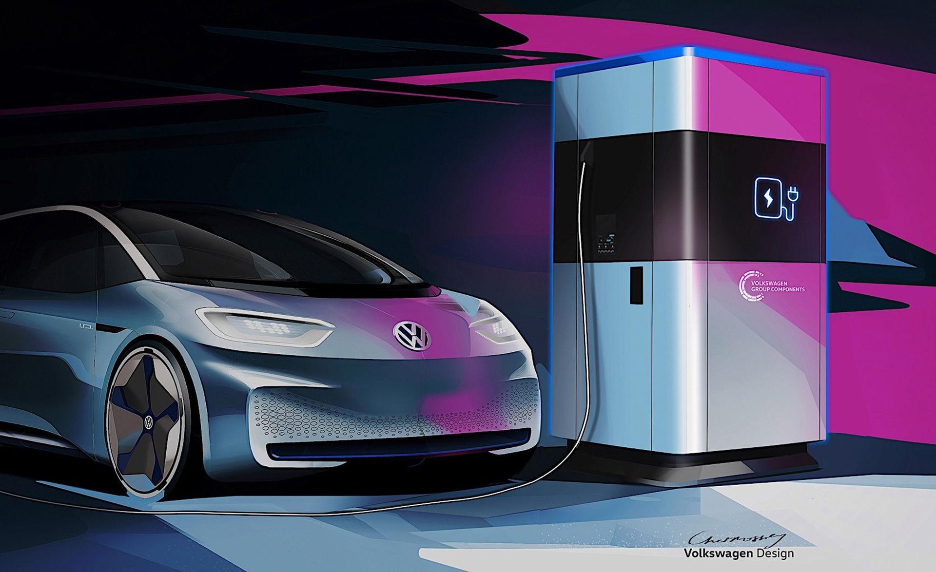 Volkswagen visar skiss på mobil laddstation