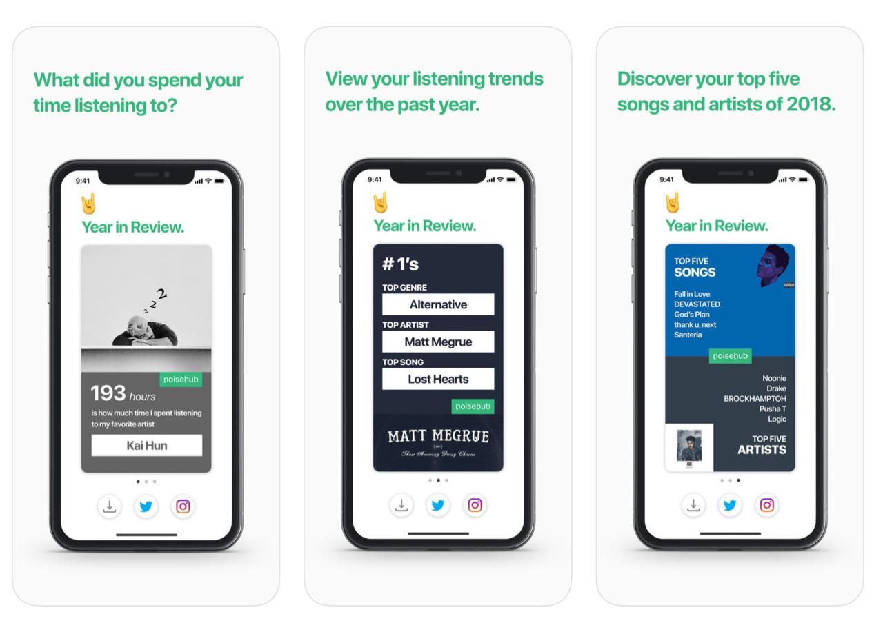 Den här appen visar hur du lyssnade på Apple Music i år