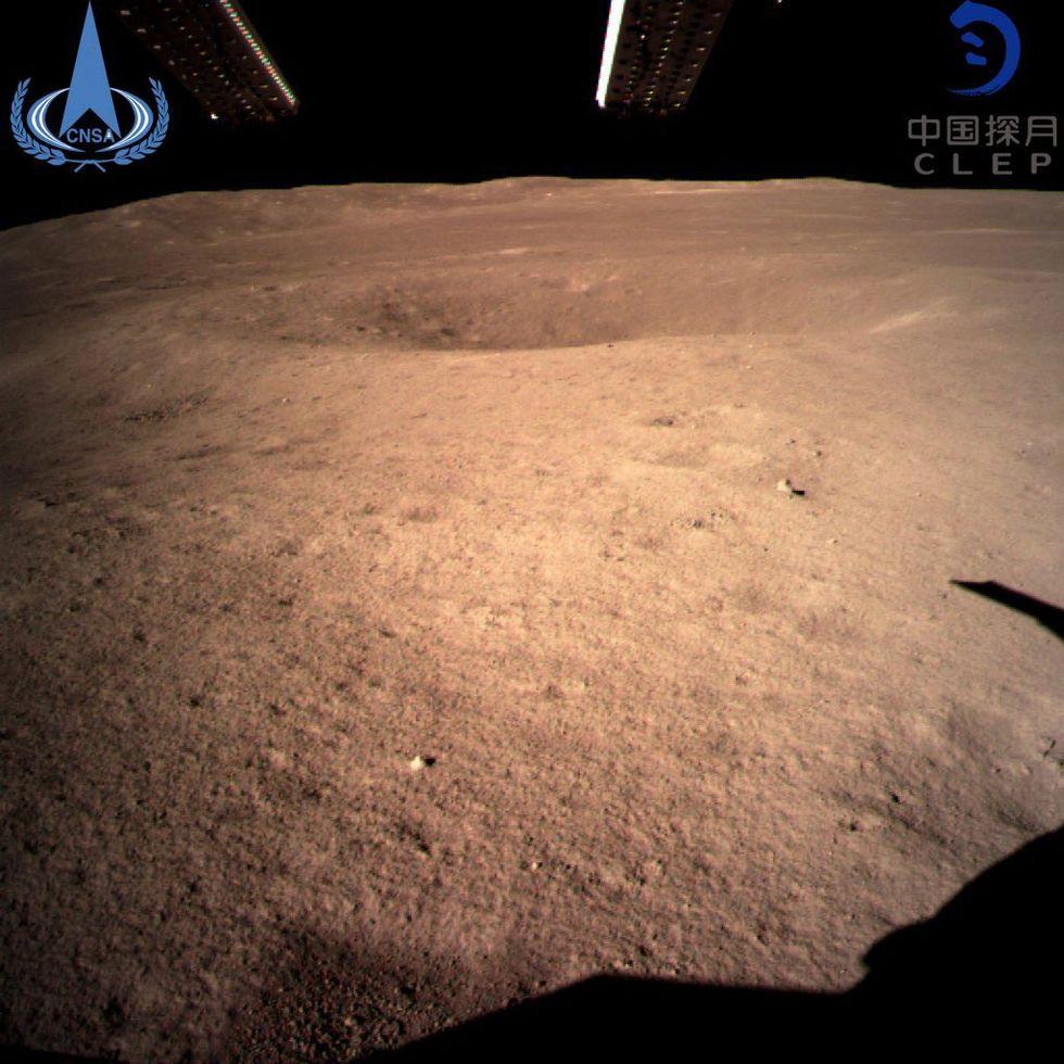 Kina har landat på månens baksida