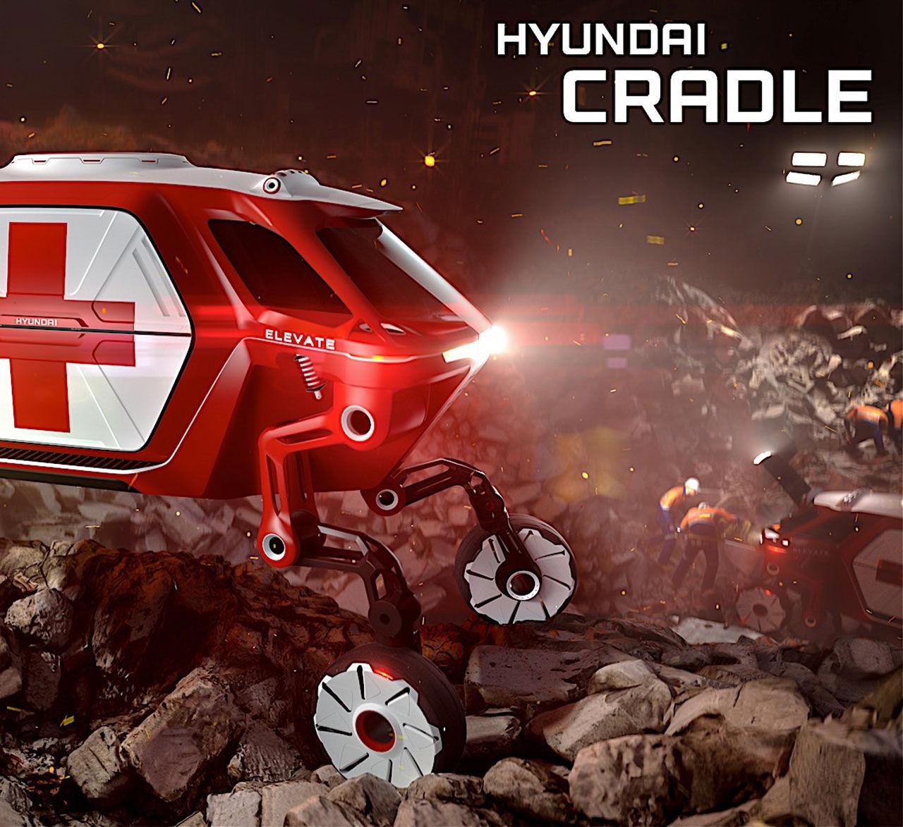 Hyundais senast konceptbil kan gå och klättra