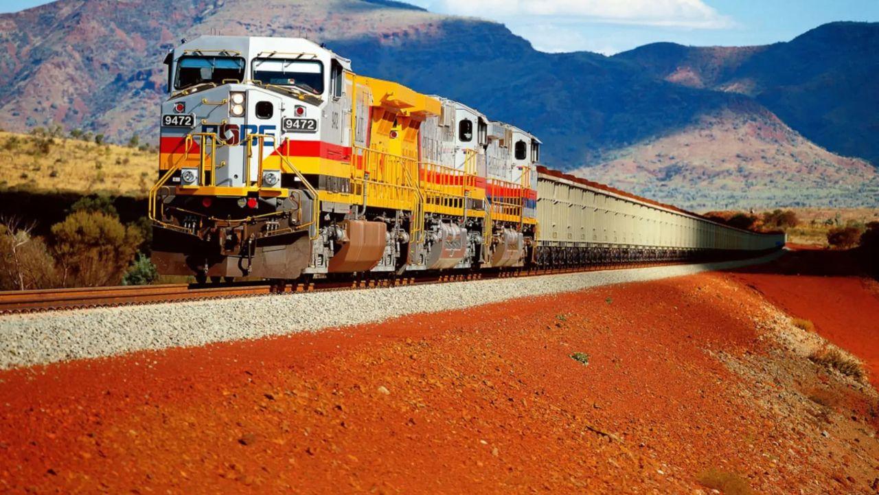 Gruvföretag i Australien har helt automatiserade tåg