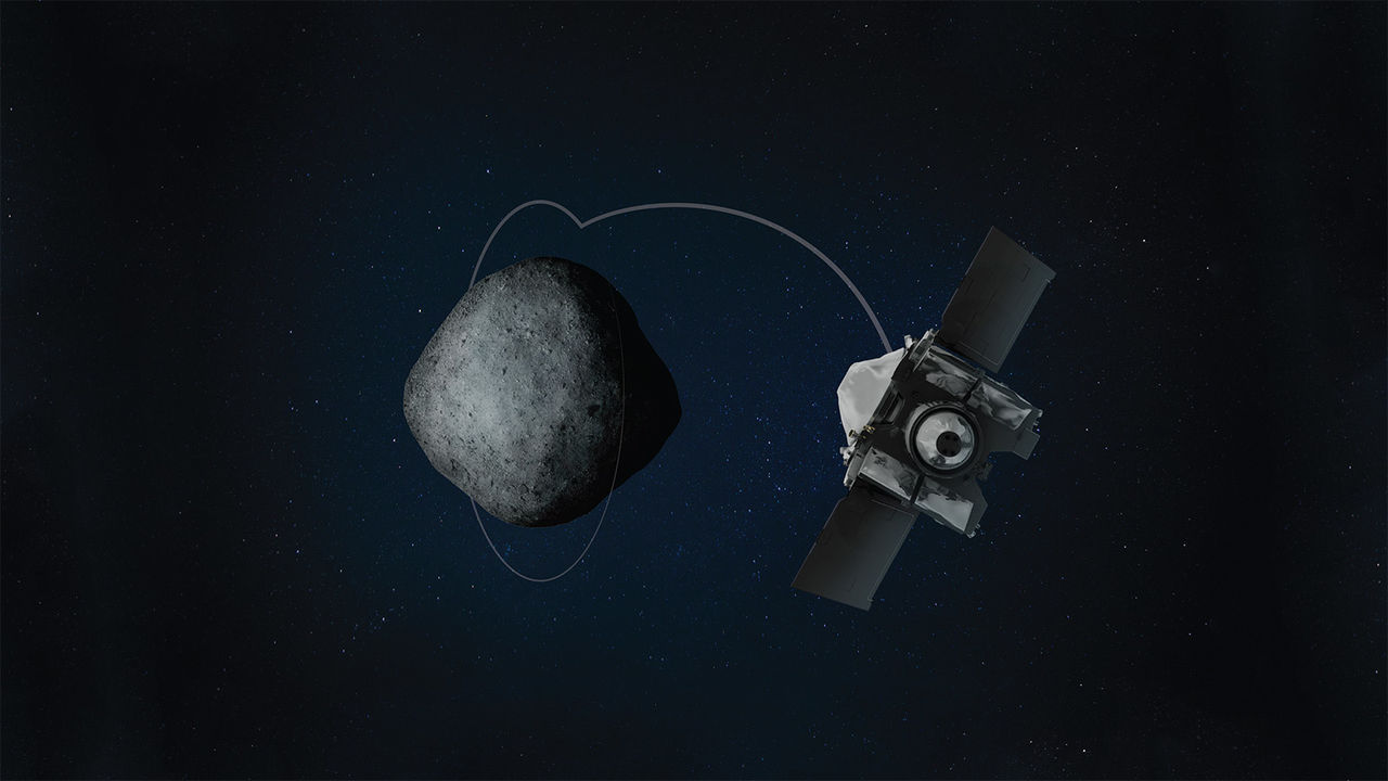 Nu har OSIRIS-REx lagt sig i omloppsbana runt asteroiden Bennu