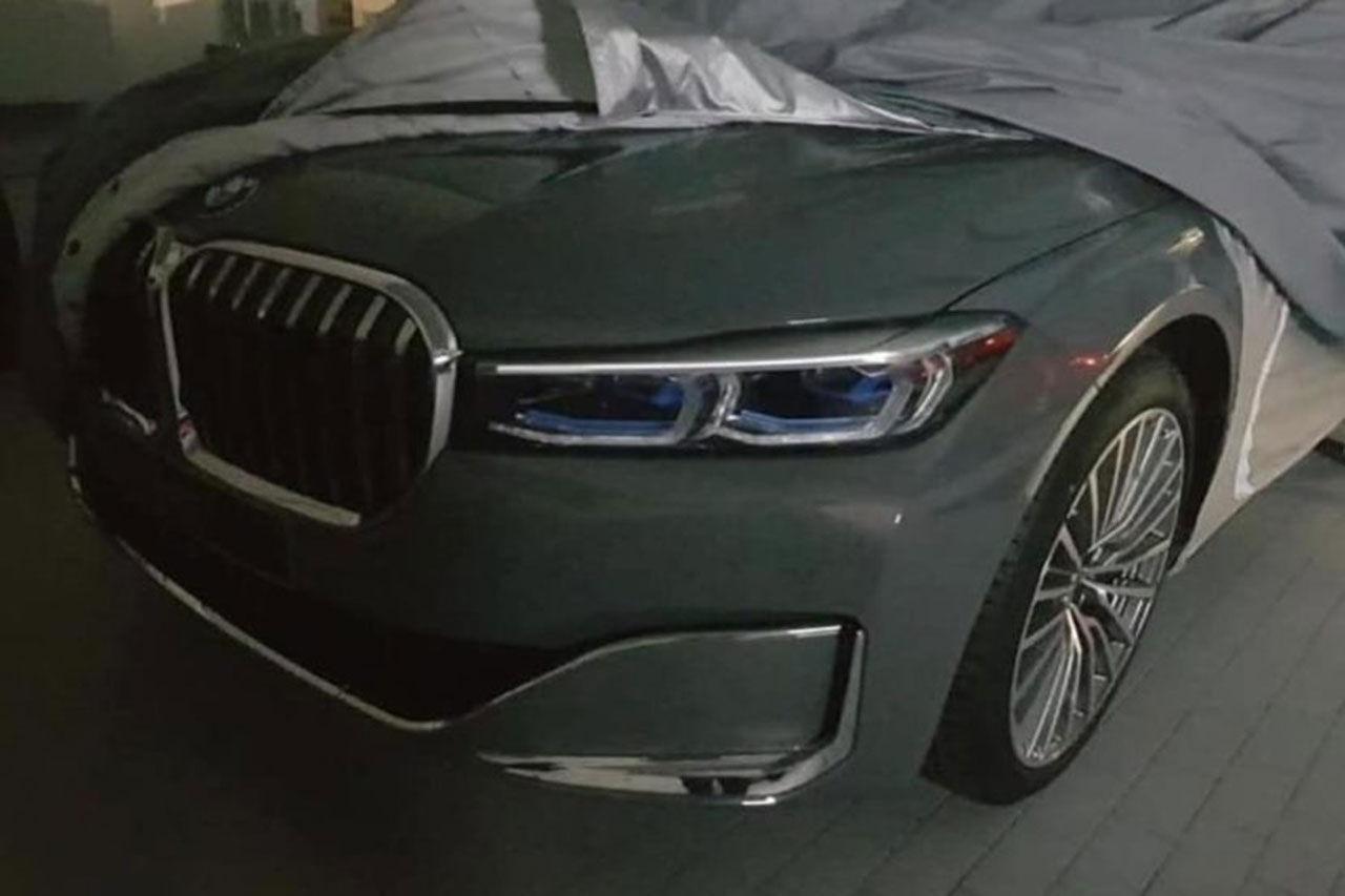 Uppdaterade BMW 7-serie läcker ut