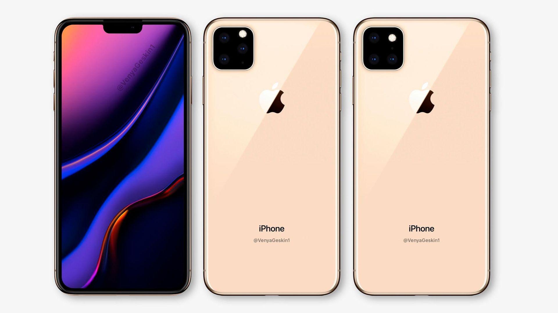 Rendering på hur nästa iPhone kan komma att se ut