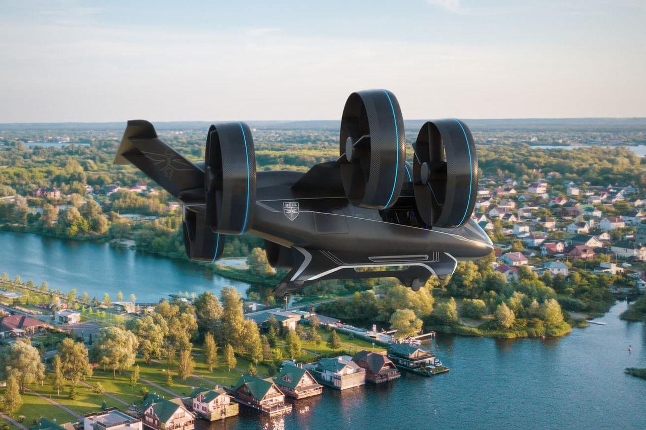 Bell siktar på att ha sina flygande bilar i luften 2025