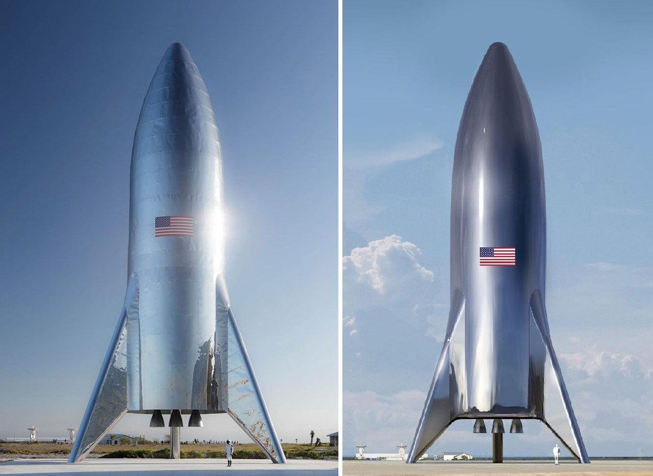 Det här är en ny testraket från SpaceX