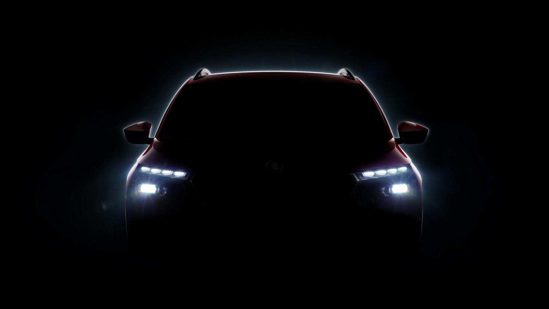 Teaser för ny liten SUV från Skoda