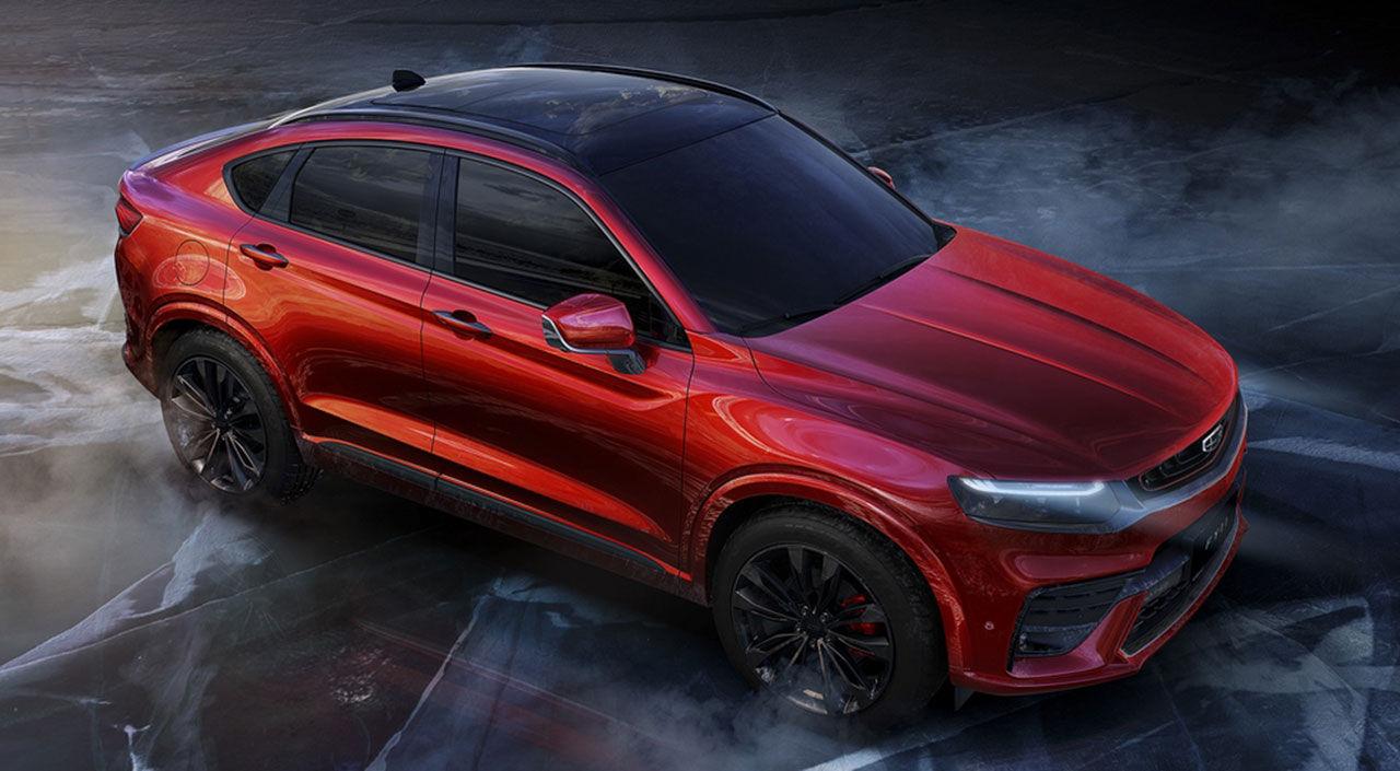 Så här ser Geelys SUV-coupé ut