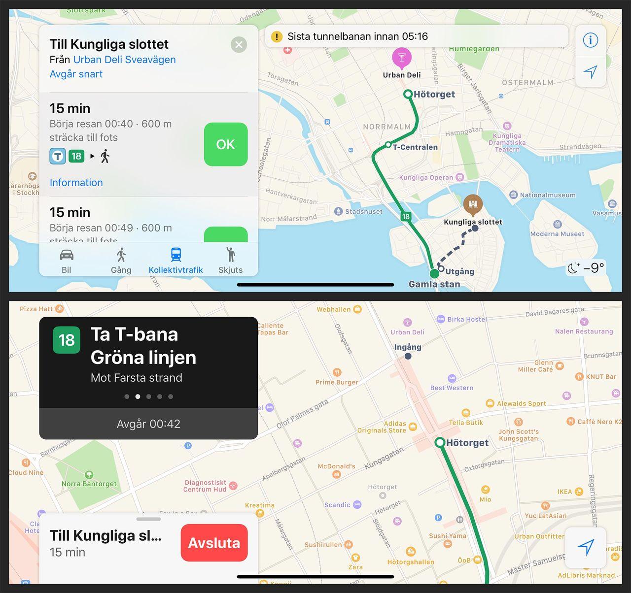 Nu finns stöd för kollektivtrafik i Apple Maps!