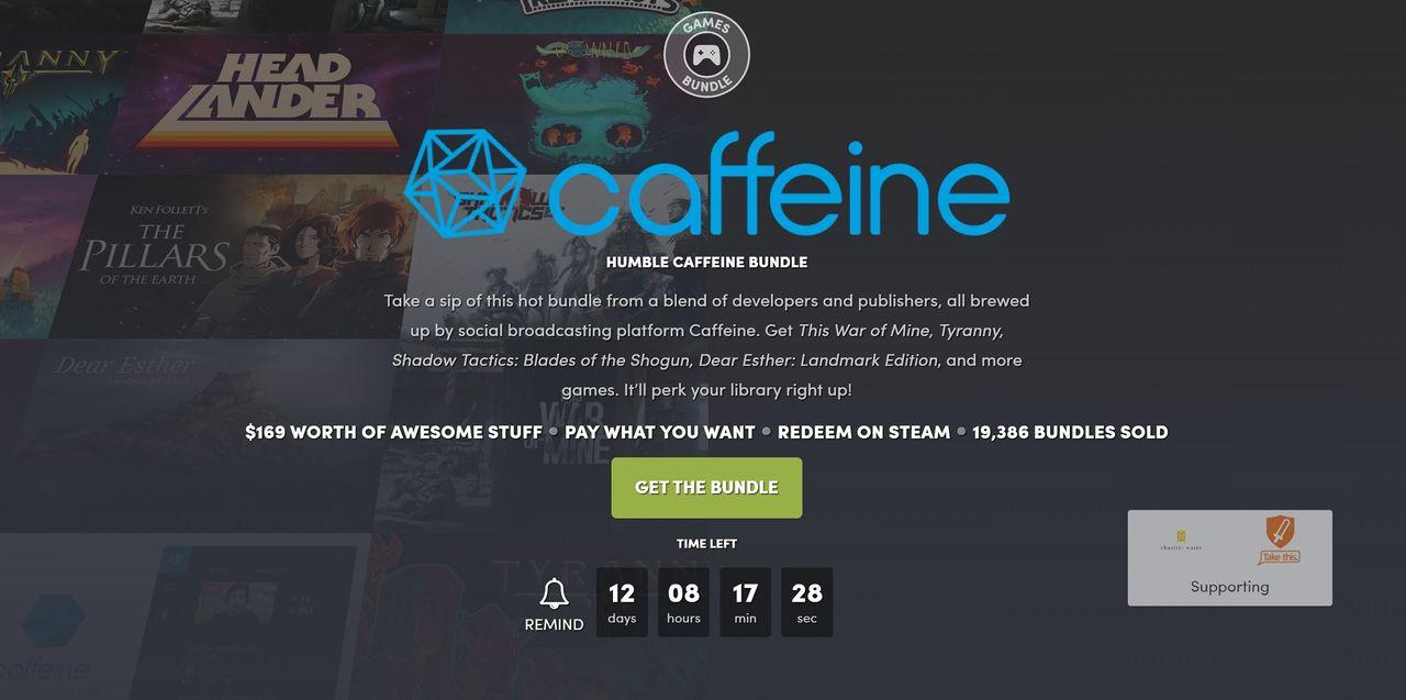 Fynda kvalitetsspel i Humble Caffeine Bundle