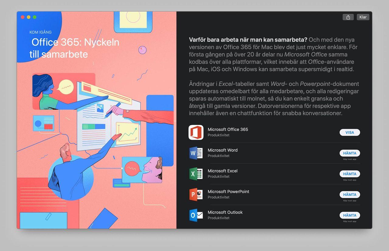 Office 365 till Mac App Store