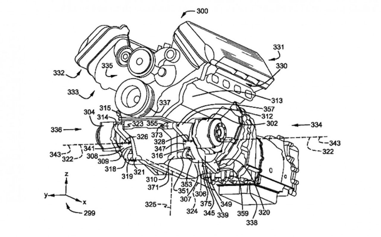 Ford har tagit patent på V8:a med hybrid-system