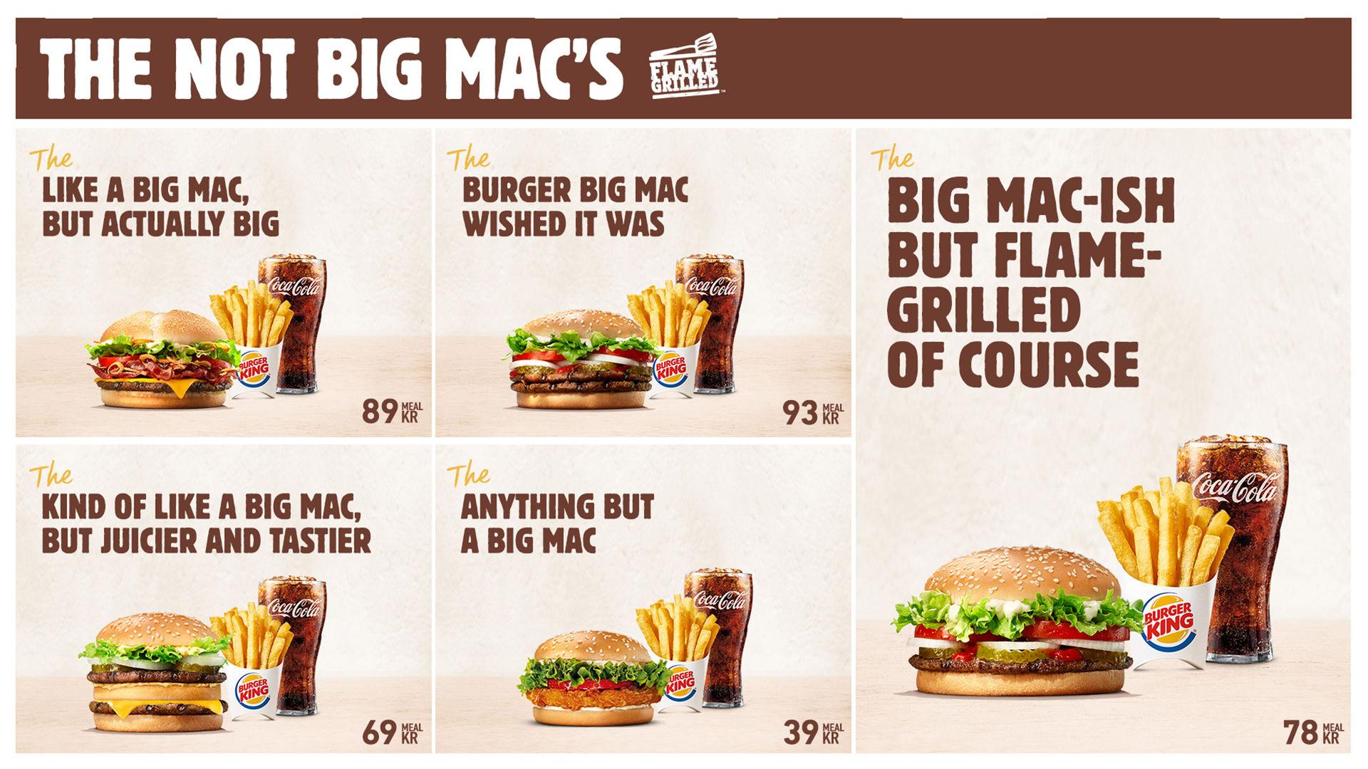Burger King driver med McDonald's