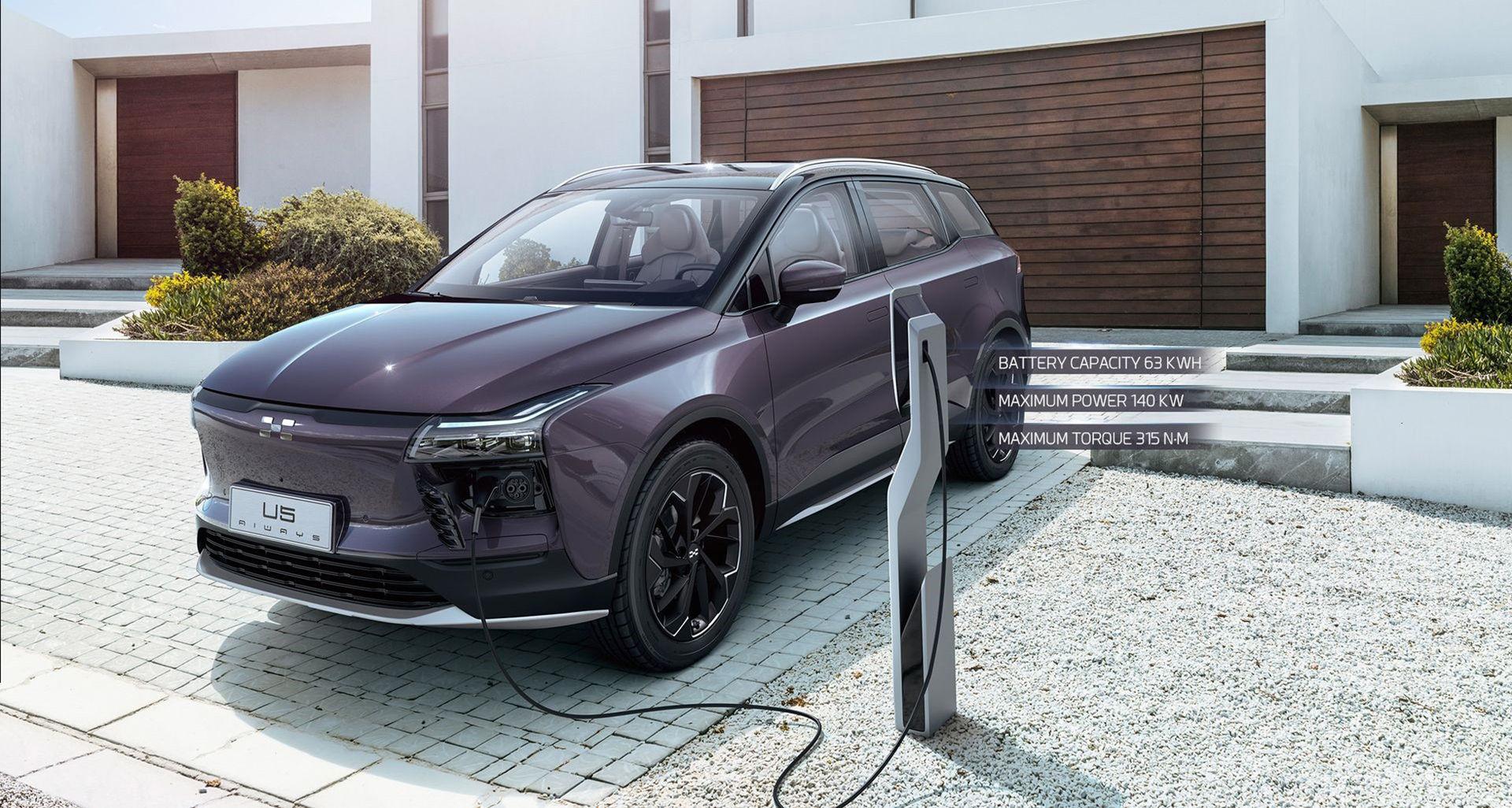 Aiways eldrivna SUV U5 kommer till Europa