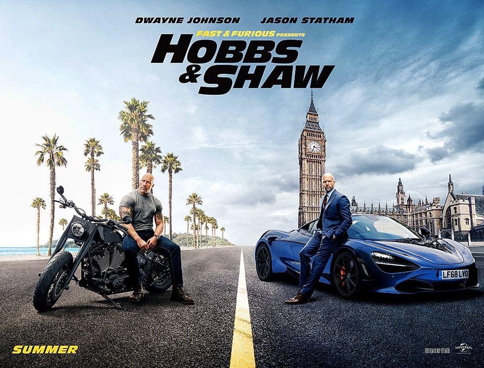 Hobbs och Shaw ser tuffa ut på poster för Hobbs & Shaw