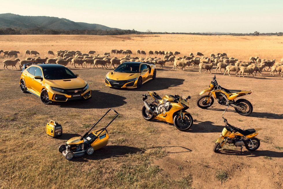 Honda firar 50 år i Australien med guldprylar
