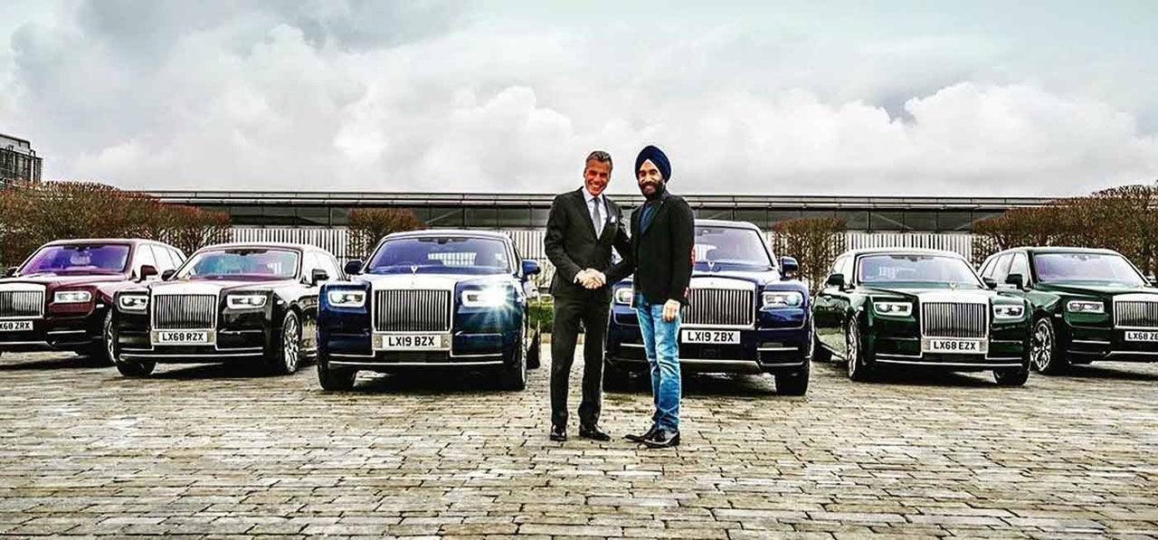 Köpte sex stycken Rolls-Royce som matchar hans turbaner
