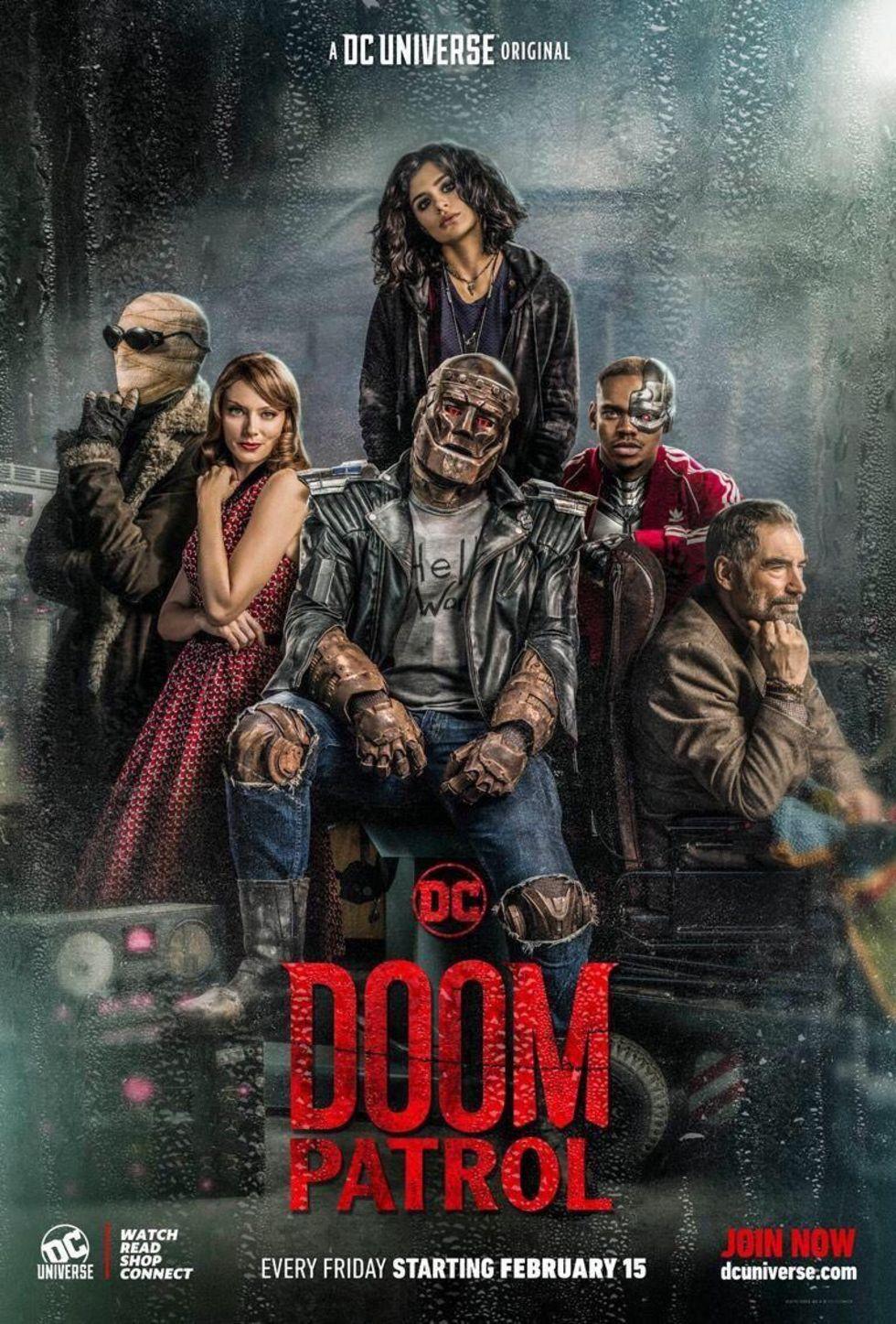 Första affischen för Doom Patrol