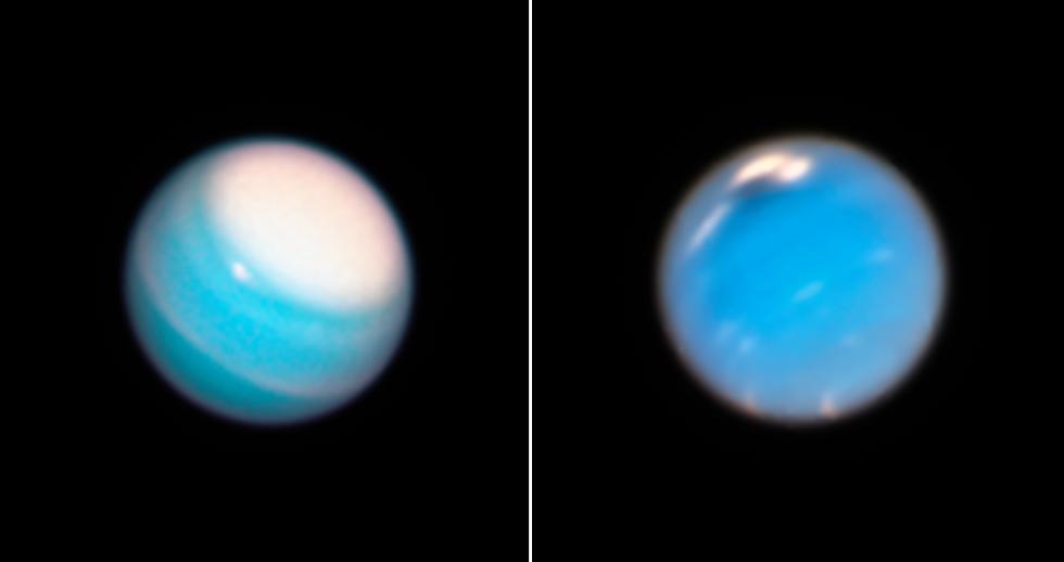 Hubble fotar Uranus och Neptunus