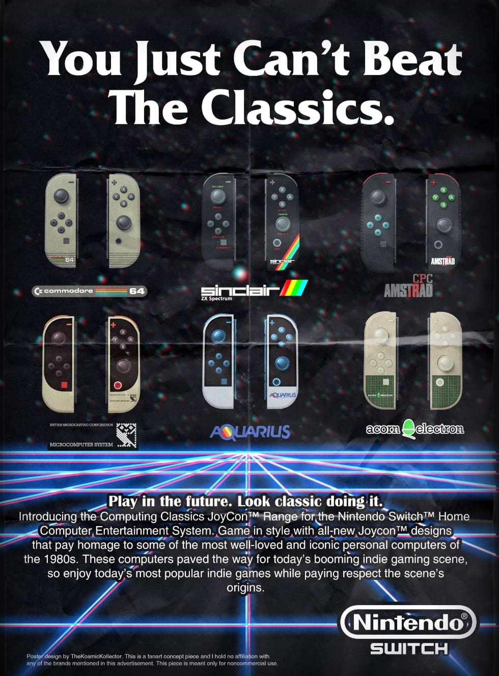Retrodesignade Joy-Cons till Nintendo Switch