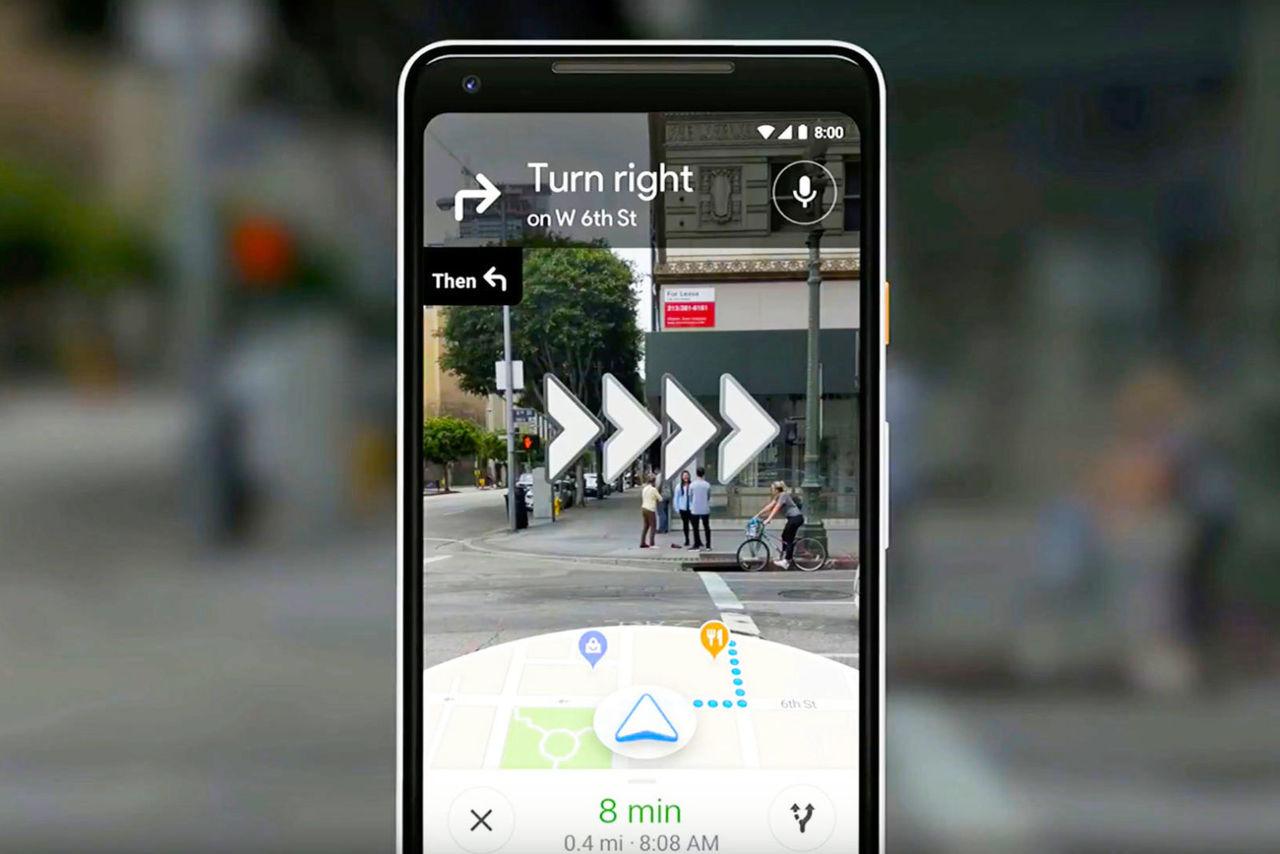 Google Maps AR-navigation har börjat rulla ut