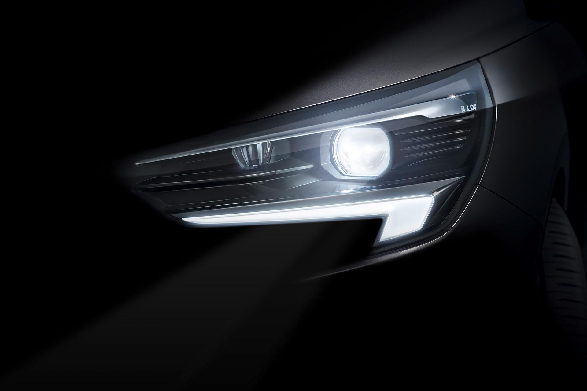 Så här ser nya Opel Corsas LED-strålkastare ut