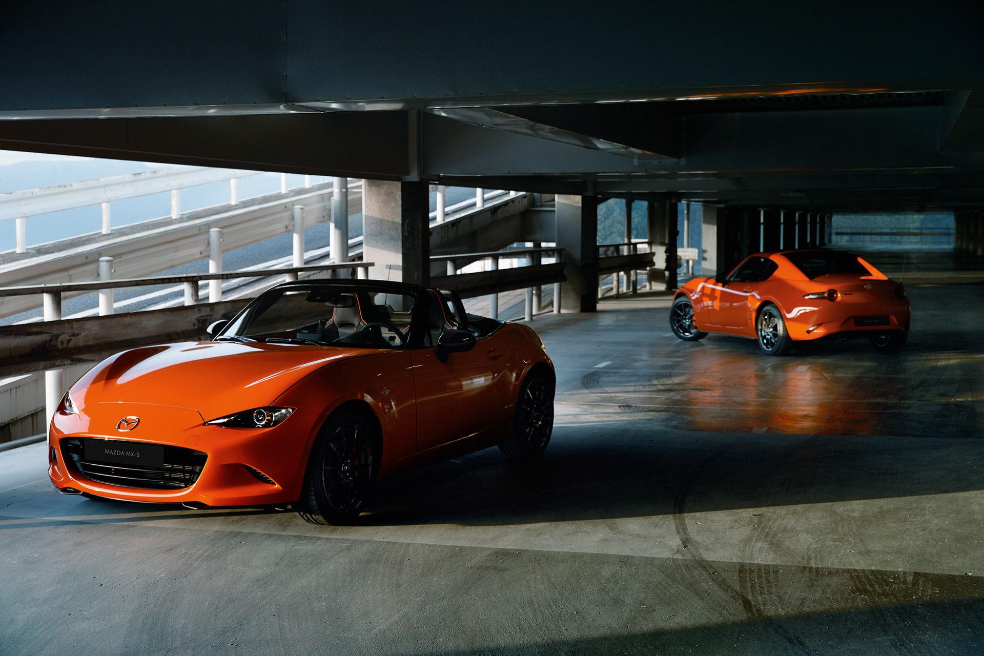 Det här är jubileumsutgåvan av Mazda MX-5