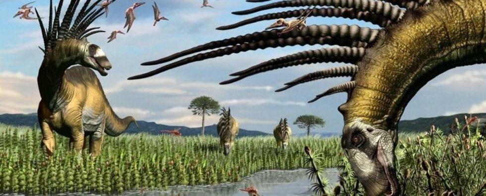 Forskare hittar dinosaur med skräckinjagande mohikanfrisyr