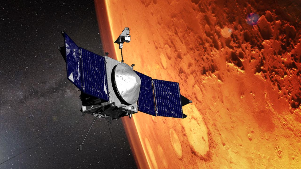 NASA:s MAVEN-satellit lägger sig närmare Mars